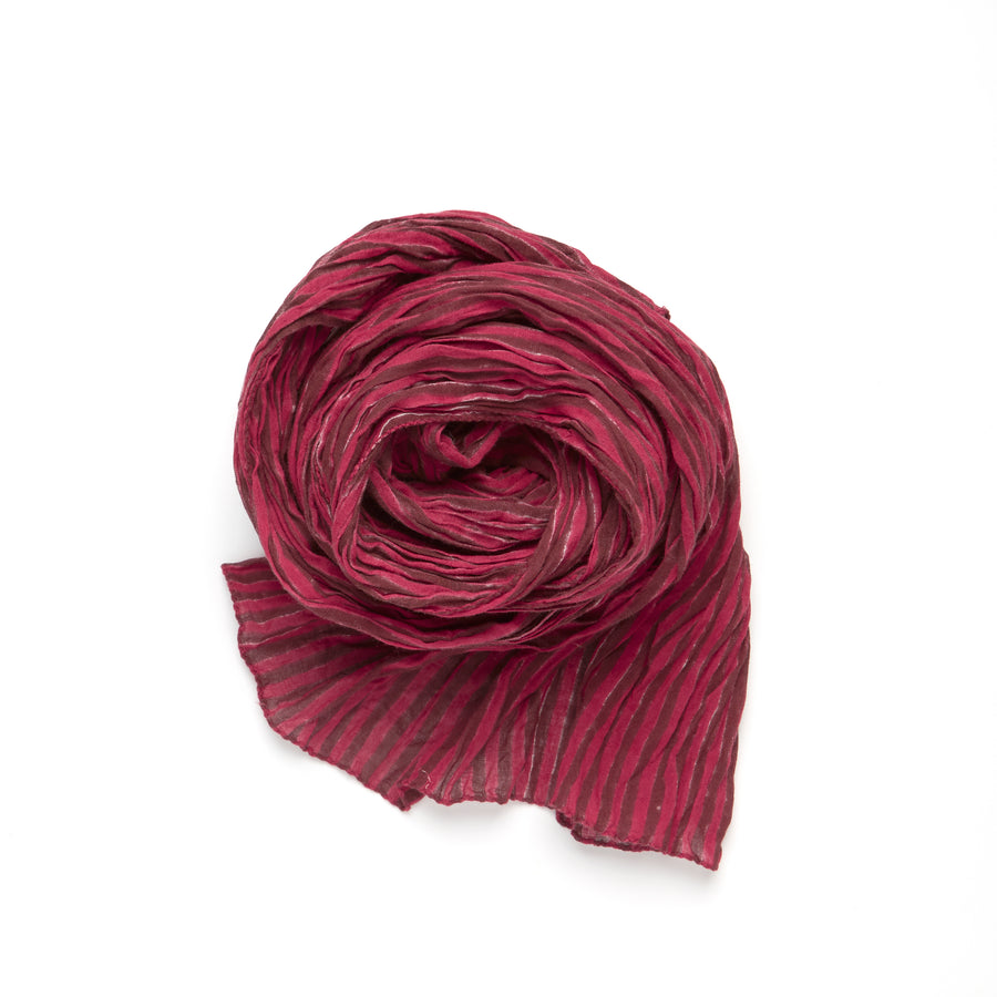 COTE SUD STRIPE-MAROON RED