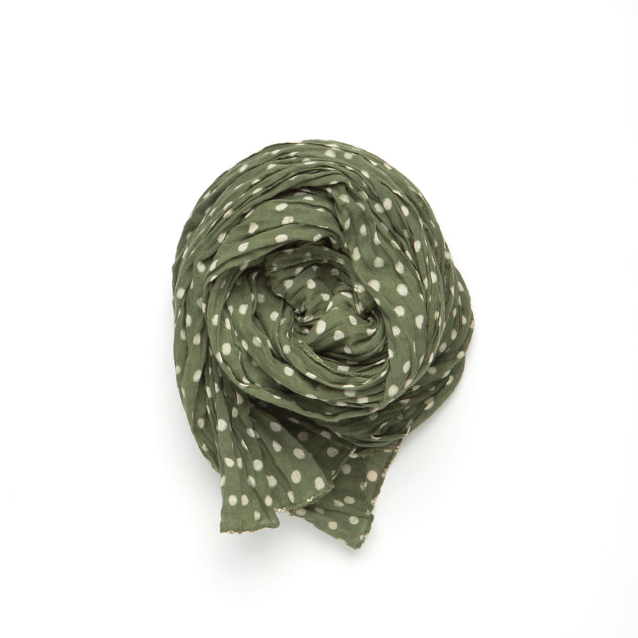 DABU POLKA DOT-EMERALD WHITE