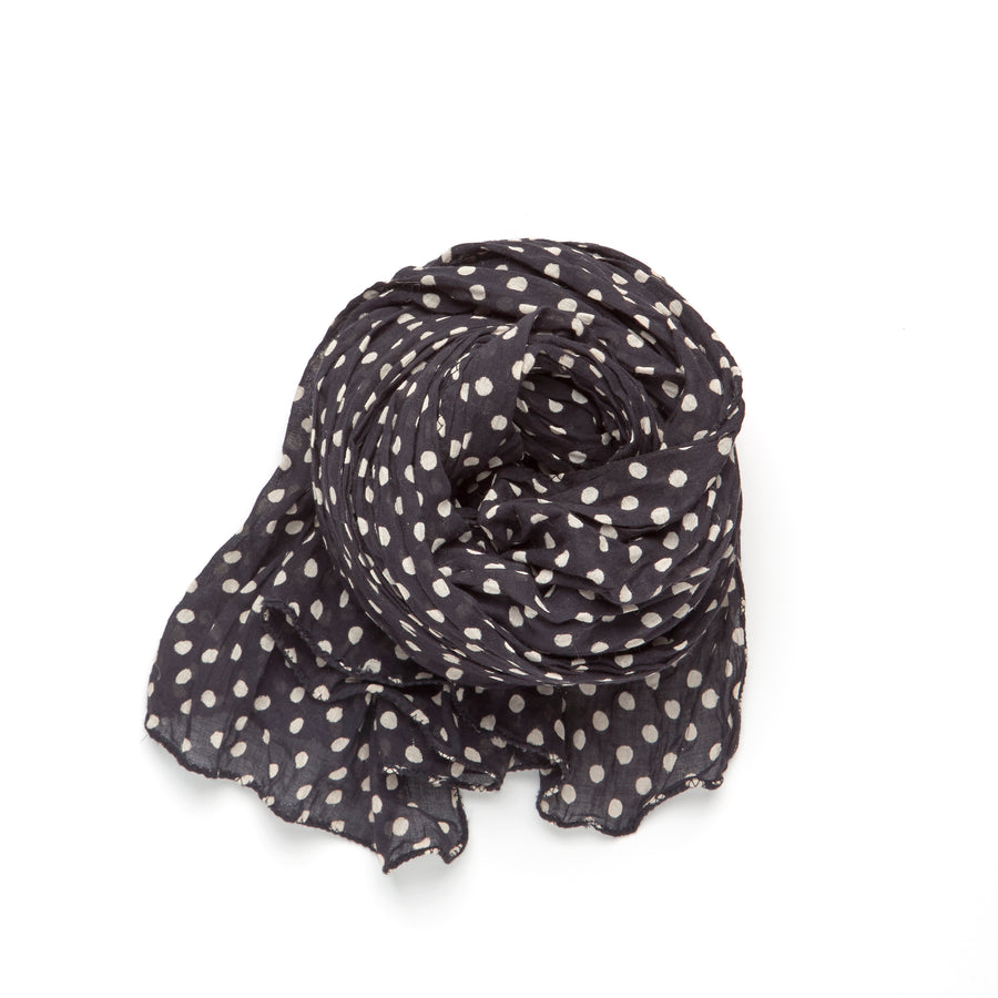 DABU POLKA DOT-BLACK IVORY WHITE