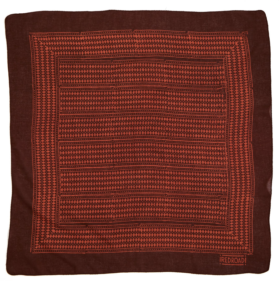dakota-red maroon <> hand block printed bandana