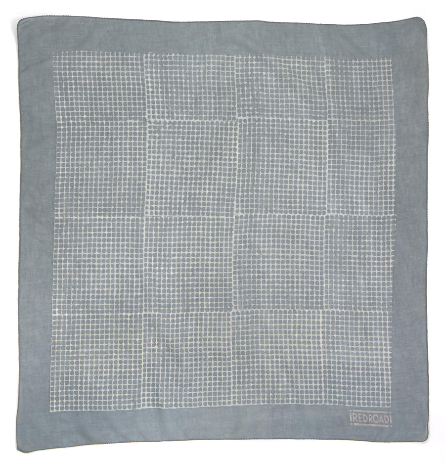 ✶ dreamweaver-soft blue ✶ hand block printed bandana
