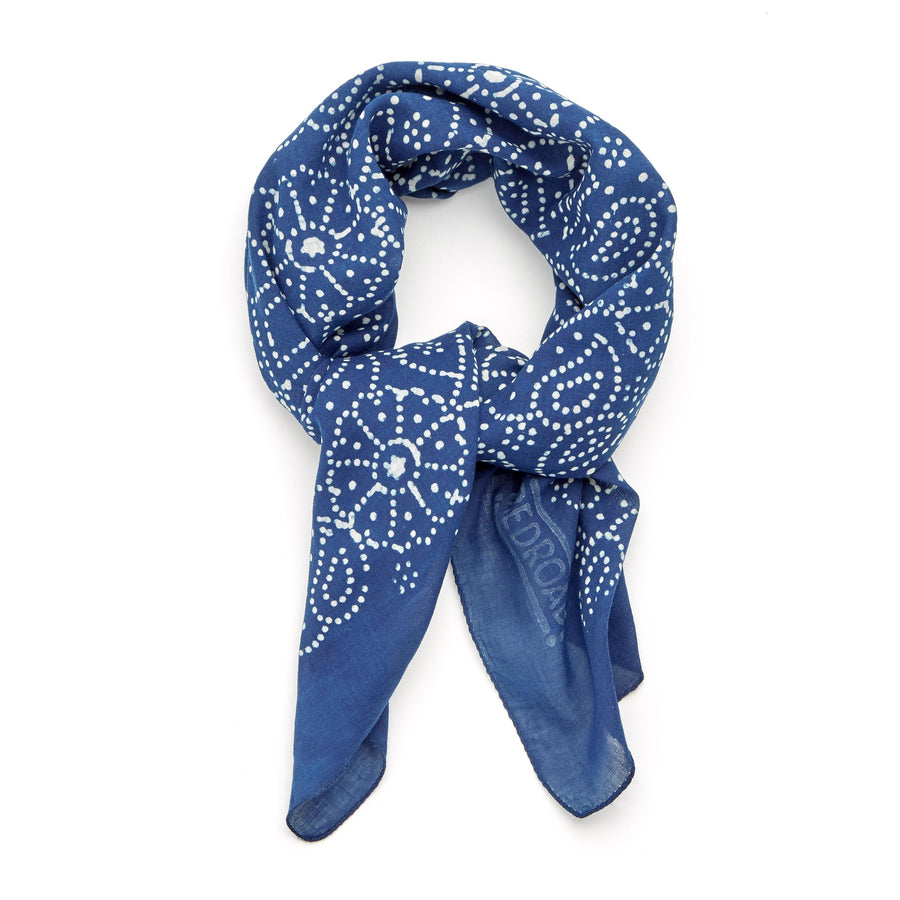 ✶ firefly-indigo ✶ hand block printed bandana (backordered)