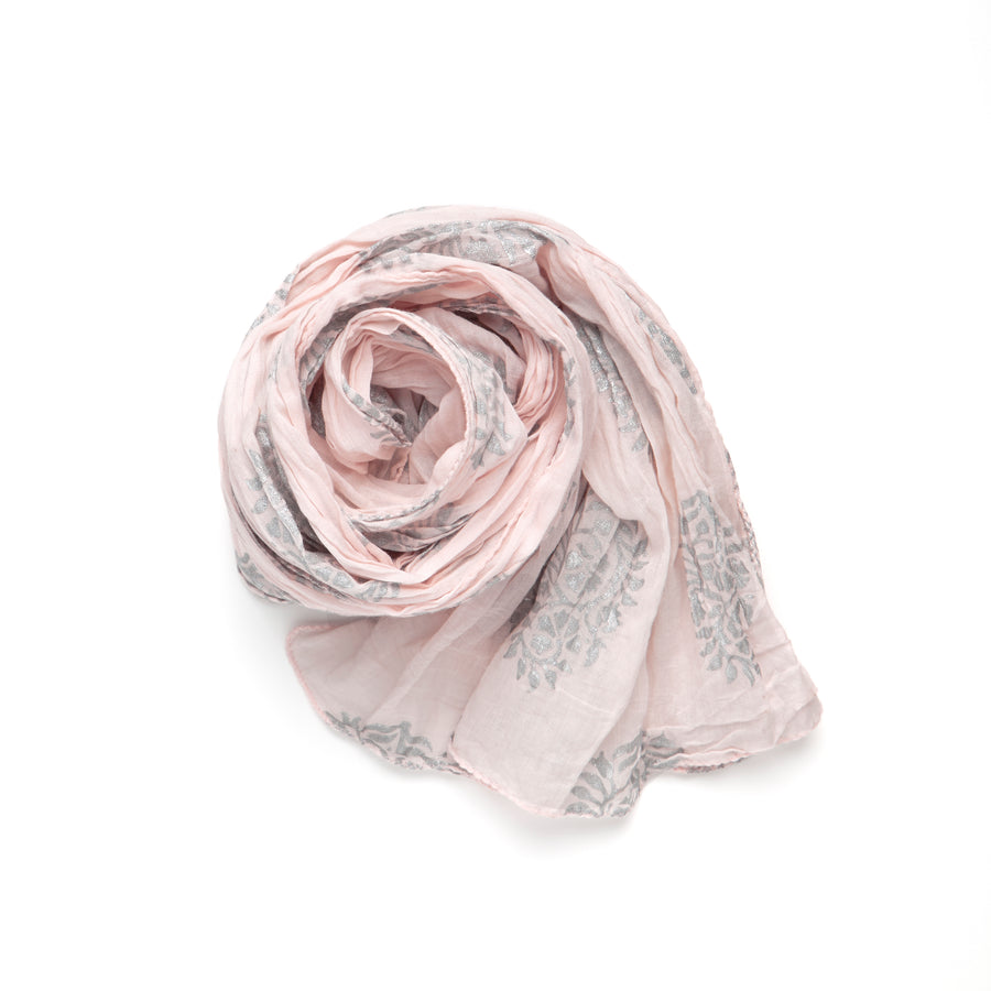 PAISLEY METALLIC-WHISPER ROSE SILVER