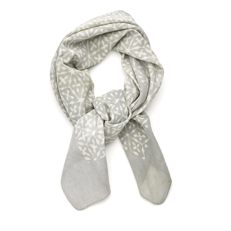 ✶ stellar-soft dove gray ✶ hand block printed bandana