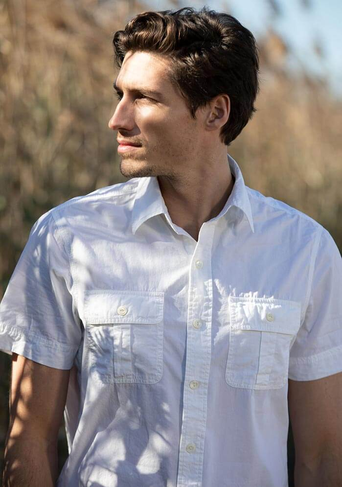 Richland Short Sleeve Shirt in white