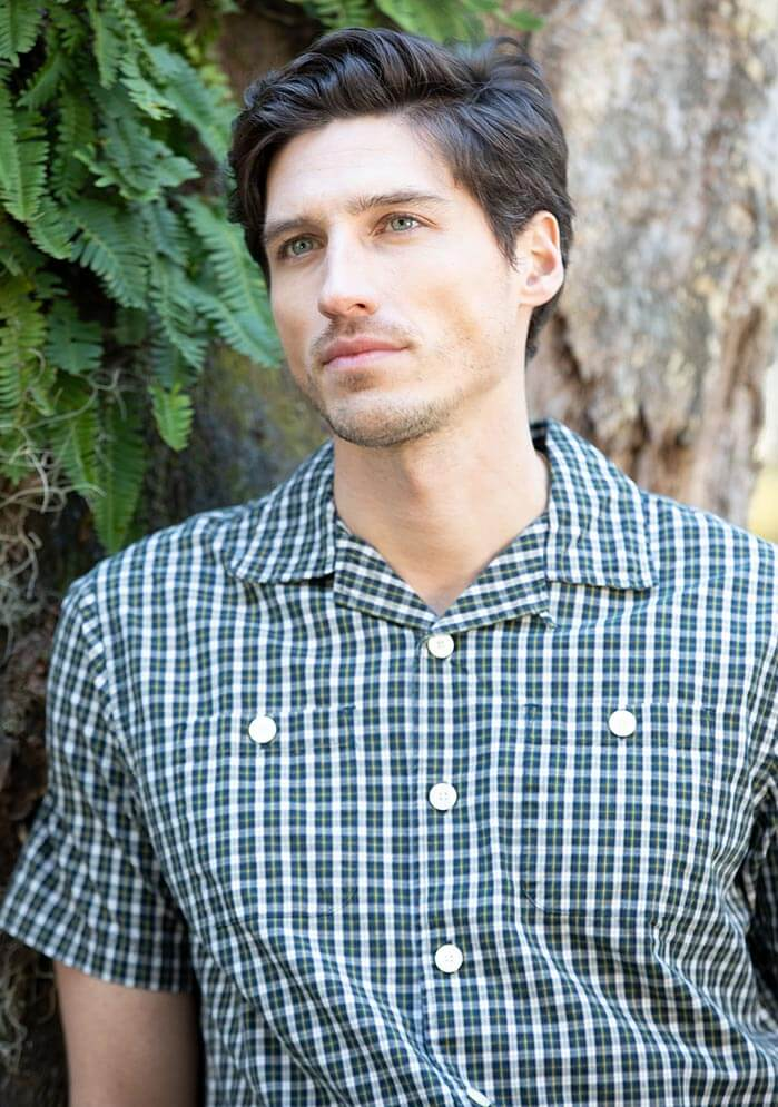 Elcott Plaid Short Sleeve Shirt in green