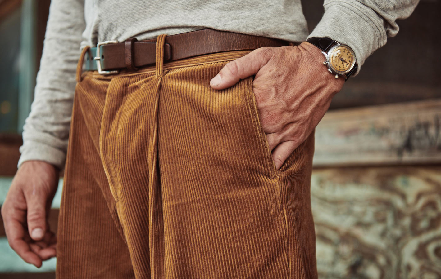 Ike Pleated Corduroy Pant