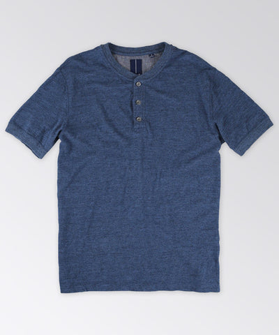 Lakeside Short Sleeve Indigo Henley