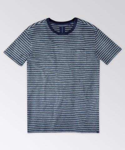 Ashley Indigo Stripe Pocket Tee