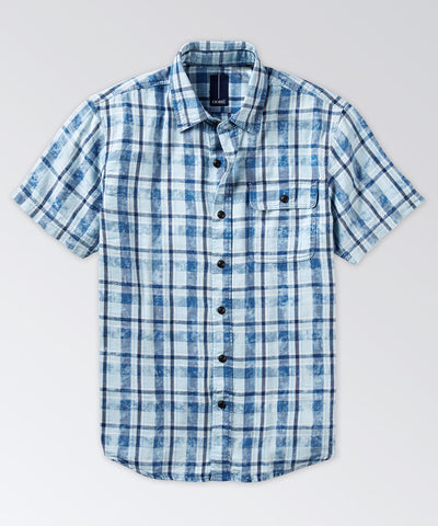 Kershaw Indigo Plaid Short Sleeve Shirt