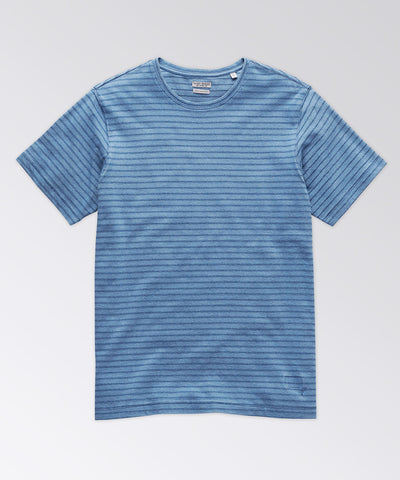 Machen Indigo Stripe Short Sleeve Tee Shirt