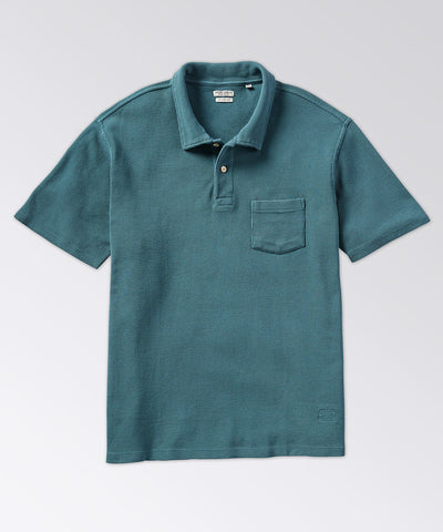 Whitman Textured Short Sleeve Polo Shirt