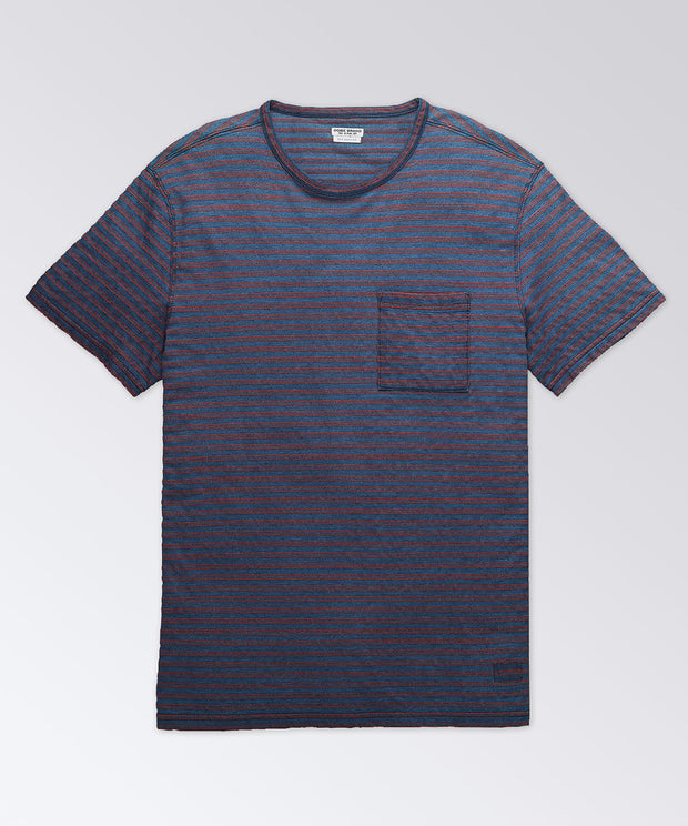 Thompson Indigo Stripe Short Sleeve Tee Shirt