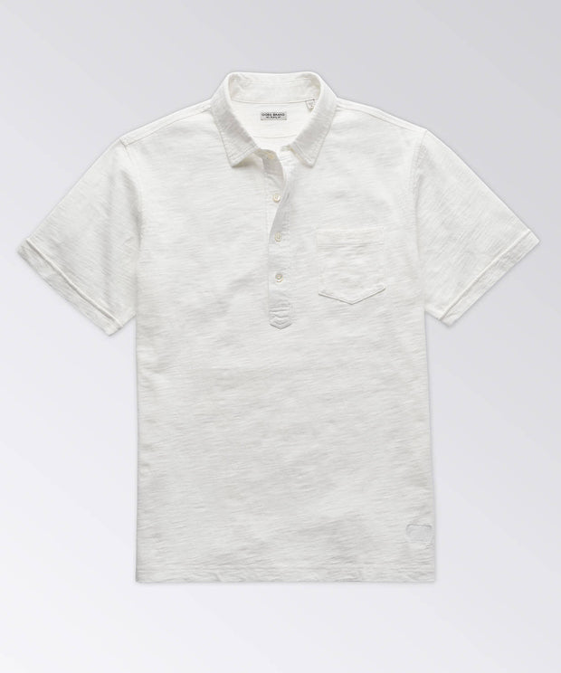 Avedon Short Sleeve Garment Dyed Pocket Polo Shirt