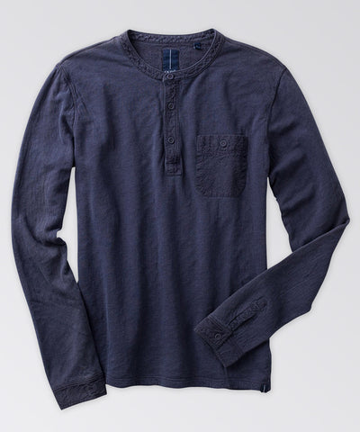 Woodside Garment-Dyed Henley Shirt