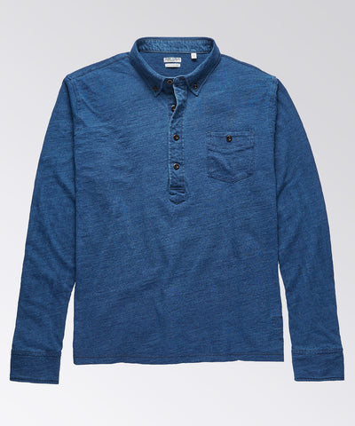 Charleston Indigo Long Sleeve Popover Shirt