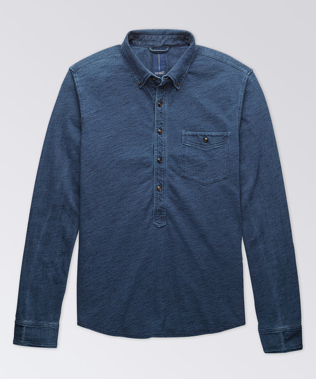 Charleston Indigo Knit Popover Shirt