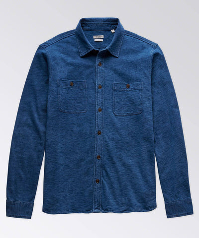 Ashley Long Sleeve Indigo Jersey Workshirt