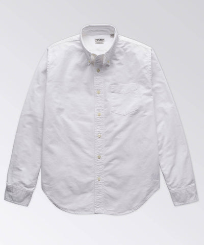 Charles Solid White Oxford Long Sleeve Shirt