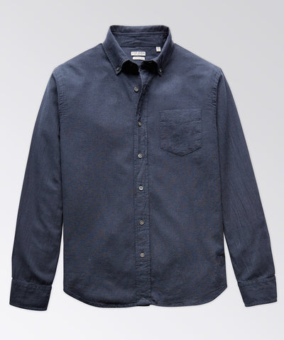 King Street Navy Micro Check Shirt