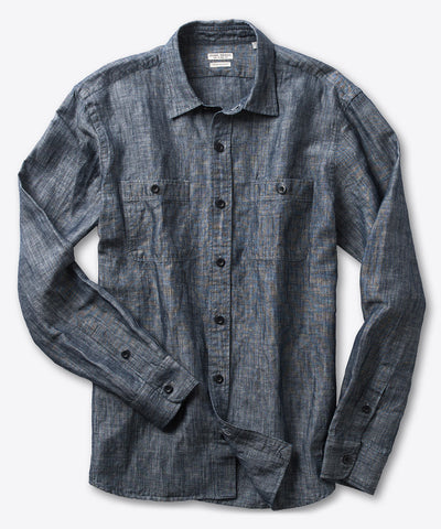 Millworks Long Sleeve Chambray Shirt