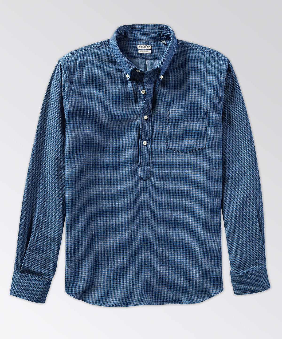 Warren Long Sleeve Indigo Popover