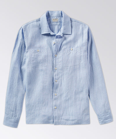 Chambray Long Sleeve Camp Shirt