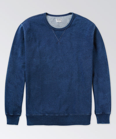 Warren Indigo Long Sleeve Crew Sweatshirt