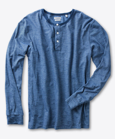 Linguard Long Sleeve Indigo Henley Shirt