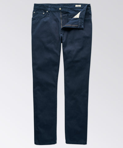 Cooper Five-Pocket Navy Twill Pant