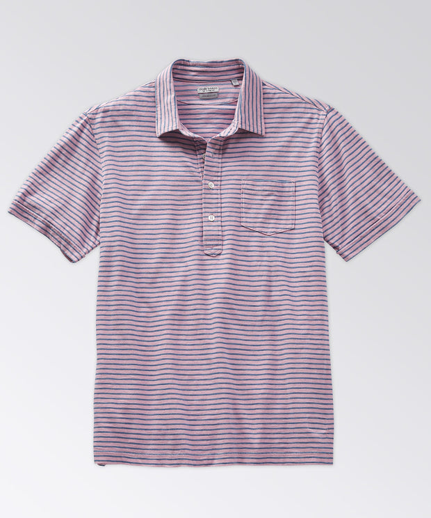 Avedon Indigo Stripe Pocket Polo