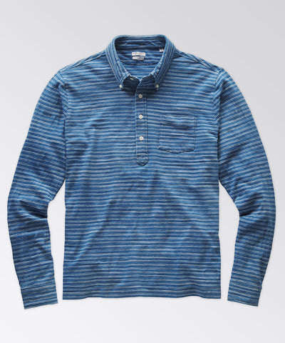 Burnham Light Indigo Stripe Popover