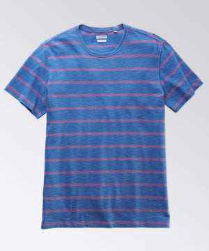 Machen Light Indigo Slub Stripe Tee