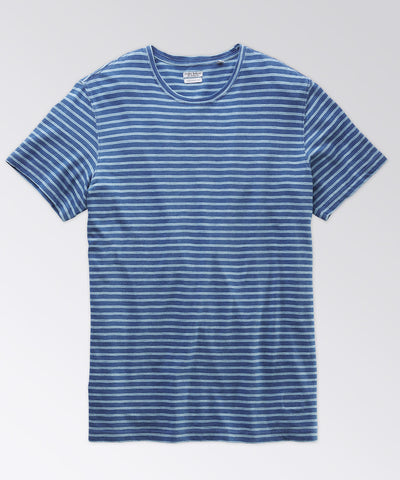 Machen Indigo/Green Double Stripe Tee