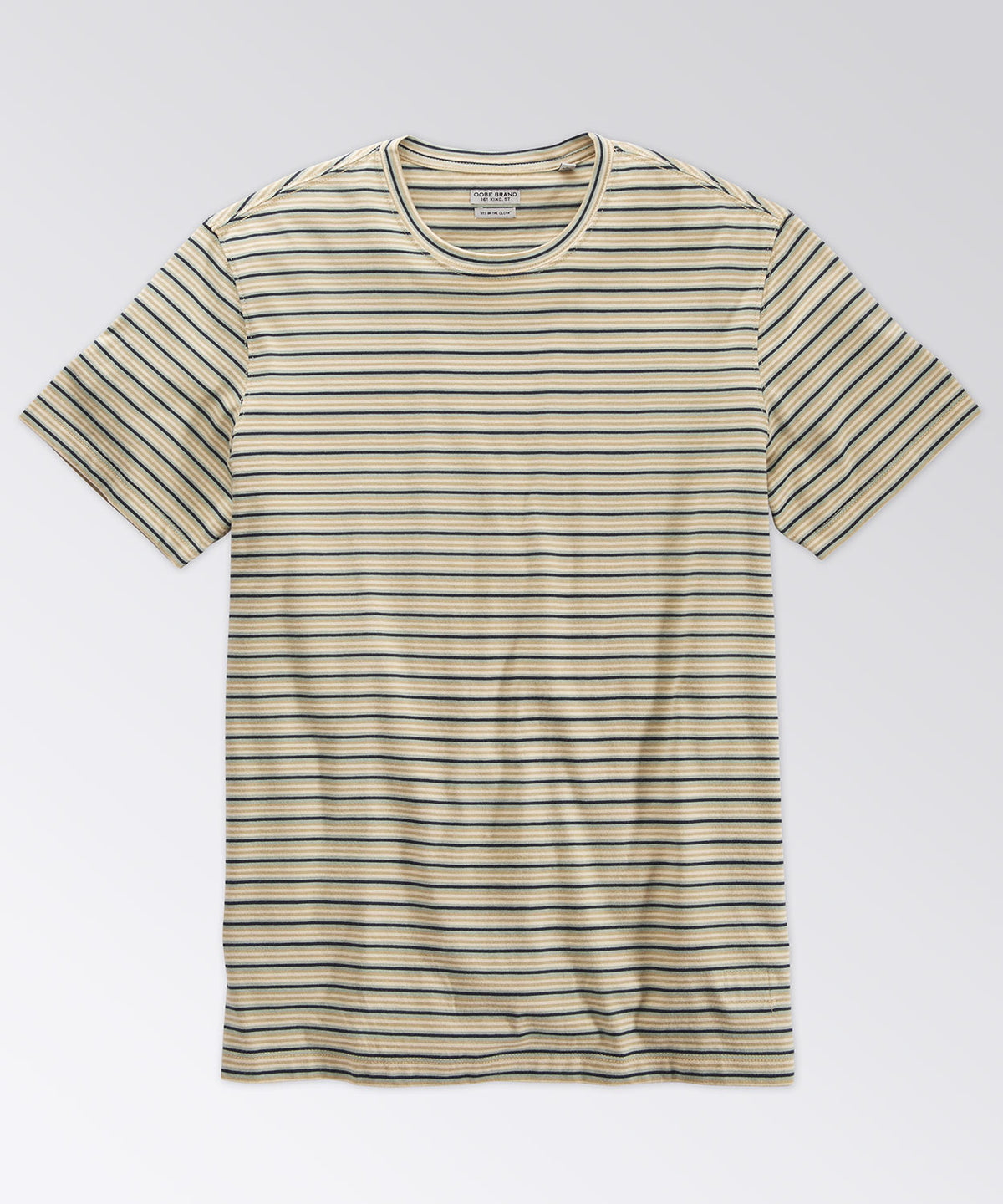 Machen Light Khaki Stripe Tee