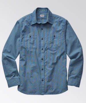 Marlan Check Workshirt - Midnight