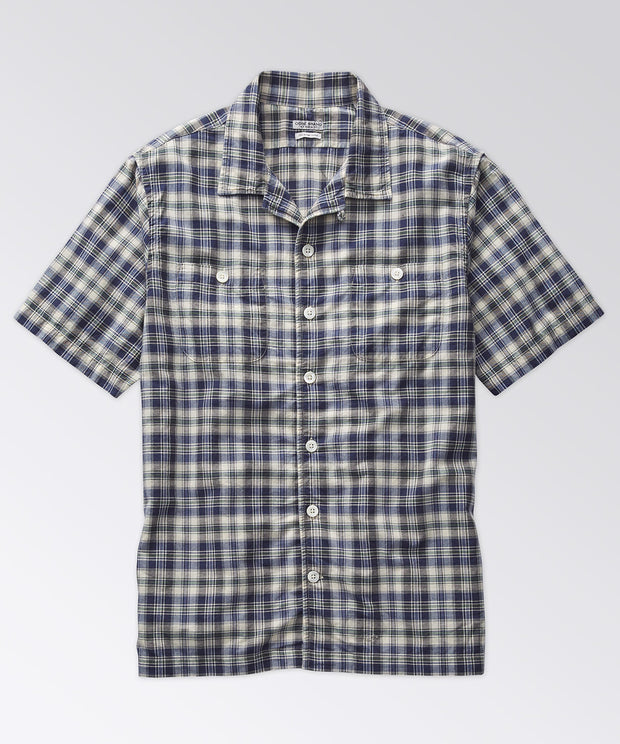 Elcott Madras Shirt - Blue Cream