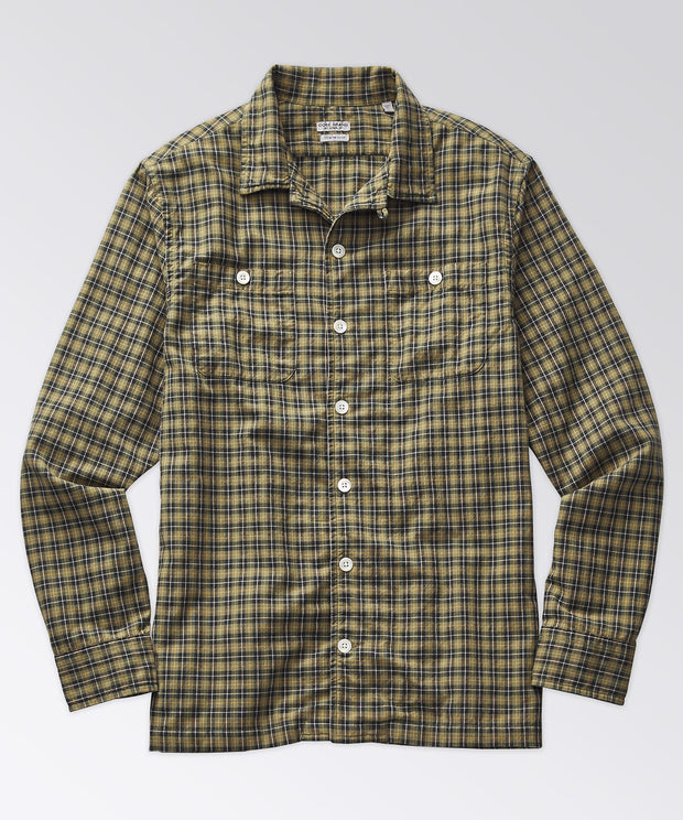Stanton Madras Camp Shirt - Treetop