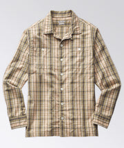 Stanton Madras Camp Shirt - Sage