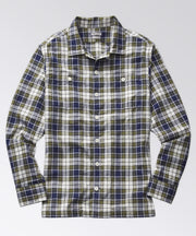 Stanton Madras Camp Shirt - Navy/Green