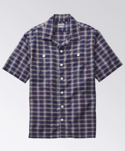 Elcott Madras Shirt - True Navy