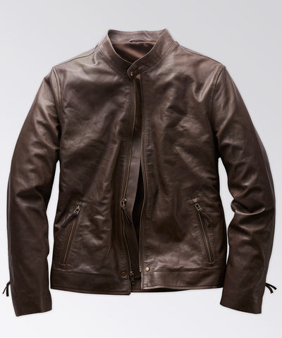 Leather Café Racer - Brown
