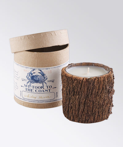 Whiskey River Bark Coast Candle