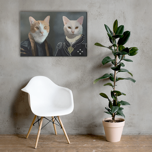 Cat Personalized Canvas Placed on Wall