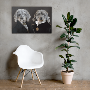 Custom Pet Canvas Decorated on Wall