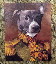 Load image into Gallery viewer, THE COLONEL - CUSTOM PET PORTRAIT (50% OFF)