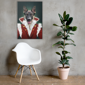 Shepherd Dog Painting Decorated on Wall