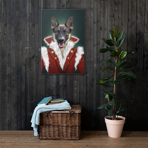 Dog Pet Portrait Placed on Wall