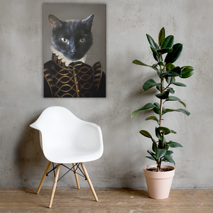 Cat Portrait Mounted on Wall