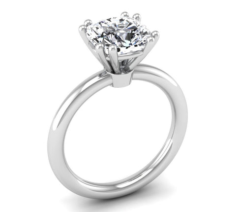 Classic Cushion Solitaire Ring Mounting
